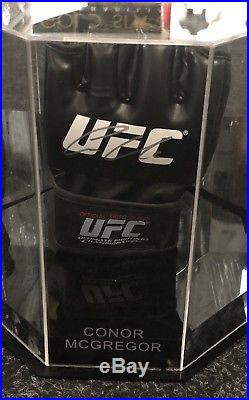 f8bc4d3963b2 Conor McGregor Signed UFC Glove In a Octagon Notorious Display Case AFTAL  COA