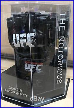 Conor McGregor Signed UFC Glove In a Octagon Notorious Display Case AFTAL COA