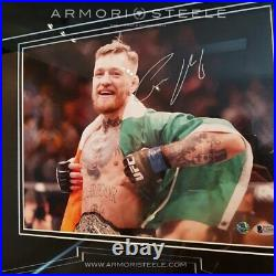 Conor Mcgregor Signed Frame With Official Ufc Replica Belt 10k Gold Plated + P