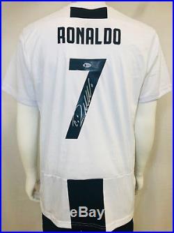 Cristiano Ronaldo Signed Juventus Serie A Italian Soccer Jersey BAS Beckett
