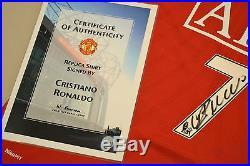 Cristiano Ronaldo Signed Manchester United 07/09 Shirt Autograph Man Utd COA