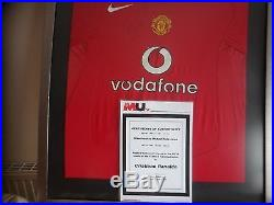 Cristiano Ronaldo Signed Manchester United Home Shirt with COA from Man United
