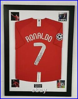 Cristiano Ronaldo of United Signed Shirt Autographed Jersey Aftal Dealer Cert
