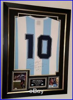 DIEGO MARADONA Signed Argentina Shirt Autographed Jersey Framed Display