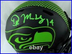 DK Metcalf Signed Seattle Seahawks Eclipse Mini Helmet Beckett W Auth Green