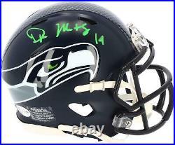D. K. Metcalf Seattle Seahawks Signed Speed Mini Helmet Signed in Green Ink