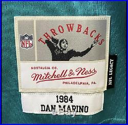 Dan Marino #13 Signed Autographed Jersey Mitchell & Ness Size L Fanatics COA