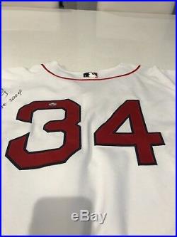 David Ortiz Game Used Worn Signed Jersey 2004 World Series Year Boston Red Sox