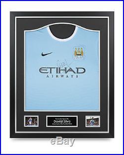 David Silva Signed Shirt Manchester City Framed Autograph Jersey Memorabilia COA