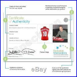 Dennis Bergkamp Signed Arsenal Football Shirt Autographed Soccer Memorabilia