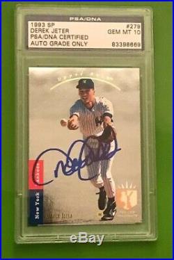 Derek Jeter Signed 1993 Ud Sp 279 Foil Rookie Card Psa 10 Mint Autograph Steiner