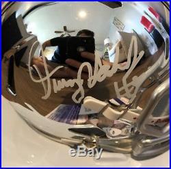 Dwayne Haskins Signed Mini Helmet Chrome OSU Ohio State JSA Rookie Auto COA