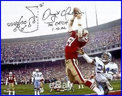 Dwight Clark San Francisco 49ers Signed 16 x 20 Photo with Drawn Play Insc