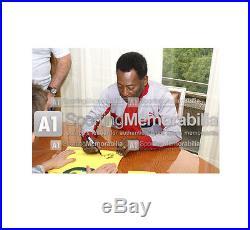 Edson Pele signed shirt Brazil 1970 Autograph