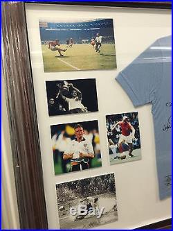 England. Football signed Shirt Legends Of Football Beckham Hurst Lofthouse Finney