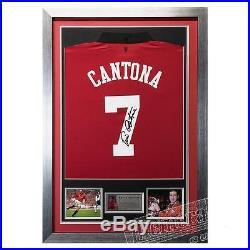 Eric Cantona Signed Man Utd Framed Shirt COA