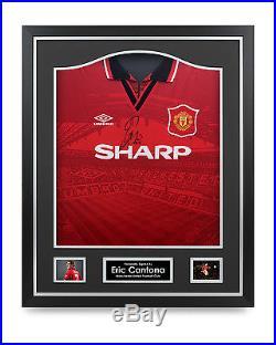 Eric Cantona Signed Shirt Framed Man Utd 1996 Jersey Autograph Memorabilia COA
