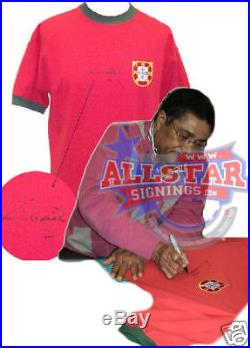 Eusebio Signed Portugal Shirt See Proof Benfica Football