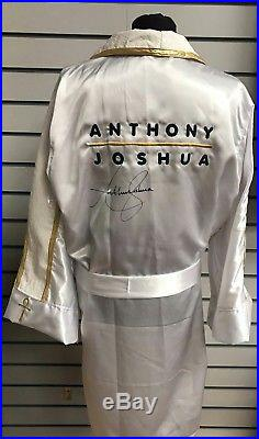 Exclusive Anthony Joshua MBE Hand Signed Boxing Robe/Gown World Champion COA
