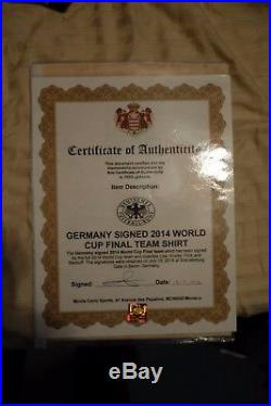 FIFA 2014 World Cup champions Germany team and coach signed Official Jersey