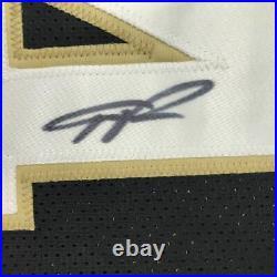 FRAMED Autographed/Signed GIANNIS ANTETOKOUNMPO 33x42 Black Jersey JSA COA
