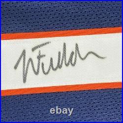 FRAMED Autographed/Signed JUSTIN FIELDS 33x42 Chicago Blue Jersey JSA COA Auto