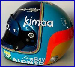Fernando Alonso Hand Signed 2018 Mclaren F1 Full Size Helmet Very Rare