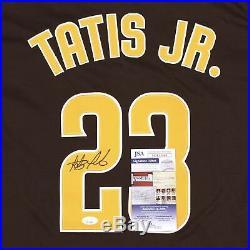 Fernando Tatis Jr. Signed Autographed San Diego Padres Brown Away Jersey JSA COA