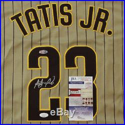 Fernando Tatis Jr. Signed San Diego Padres Gold Alternate Jersey JSA COA