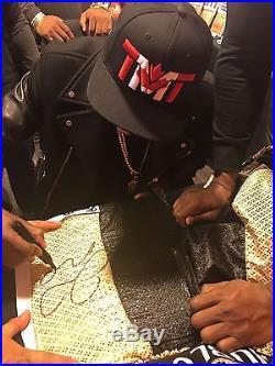 Floyd Mayweather signed Hublot shirts