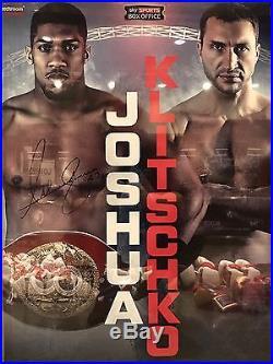 Framed Anthony Joshua Hand Signed Official Fight Poster V Wladimir Klitschko COA