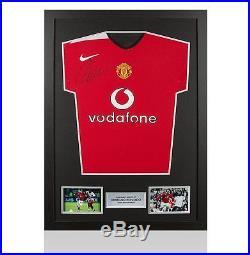 Framed Cristiano Ronaldo Signed Manchester United Shirt 2004-2006