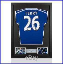 Framed John Terry Signed Chelsea Shirt 2014-2015 Number 26 Autograph