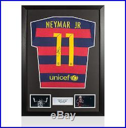 Framed Neymar Jr Signed Barcelona Shirt 2015/2016 Autograph Jersey