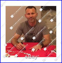 Framed Ryan Giggs Hand Signed Manchester United Shirt 1999 Home Shirt
