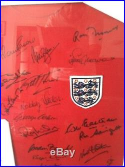 Framed Signed England 1966 World Cup Winning Shirt. Stunning And Rare