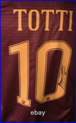 Francesco Totti Signed Roma Shirt 16/17 w Authentic Proof