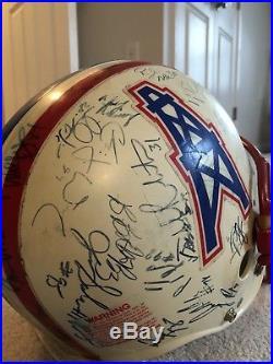 Game Used Houston Oilers Vintage Football Helmet George McNair Signed NFL