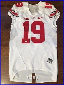 Gareon Conley 2014 Ohio State Buckeyes Game Issue Football Jersey Signed PSA/DNA