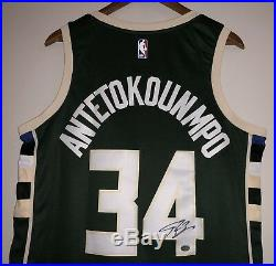 Giannis Antetokounmpo Autograph Bucks Signed Nike NBA Jersey (Antetokounmpo COA)
