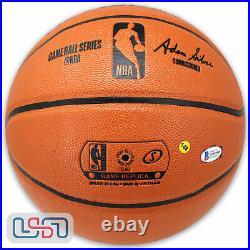 Giannis Antetokounmpo Signed Milwaukee Bucks Spalding NBA Basketball JSA Auth