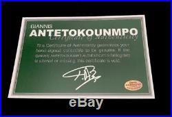 Giannis Antetokounmpo Signed Nike Bucks XL Auto Swingman Autographed Jersey JSA