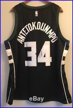 Giannis Antetokounmpo Signed Nike Connect Milwaukee Bucks NBA Swingman Jersey