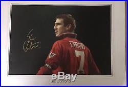 Giant Manchester United Signed Framed Eric Cantona Poster SUPERB ITEM £150