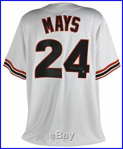 Giants Willie Mays Signed White Majestic Coolbase Jersey Mays Say Hey Hologram