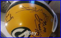 Green Bay Packers legends signed full size helmet Bart Starr, Hornung, Nitschke+