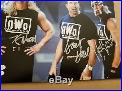 HULK HOGAN KEVIN NASH SCOTT HALL NWO WCW WWE SIGNED AUTOGRAPH 11x14 PHOTO JSA