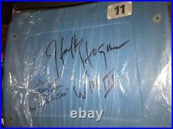 HULK HOGAN Ricky Steamboat Signed Pontiac Silverdome WrestleMania III Seatback