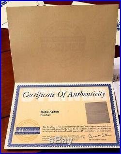 Hank Aaron Autographed Baseball Steiner COA Signed Ball