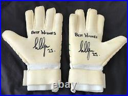 Hibernian Hibs Scottish Cup Final 2016. Signed Conrad Logan Gloves Semi & Final